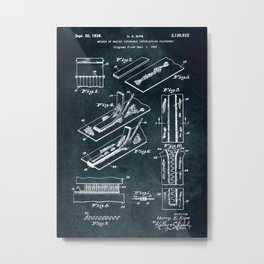 1933 - Separable interlocking fasteners Metal Print