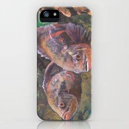 Purple Grouper Aquatic Fish Watercolor Painting  iPhone Case