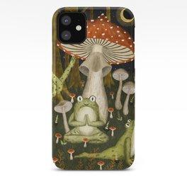 mushroom forest yoga iPhone Case
