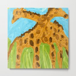 Giraffe friends Metal Print