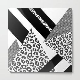 Leopard Abstact Metal Print