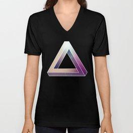 Penrose Triangular Universe Unisex V-Neck