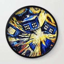 Tardis By Van Gogh - Doctor Who Wall Clock
