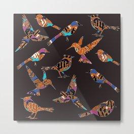 Batik birds Metal Print