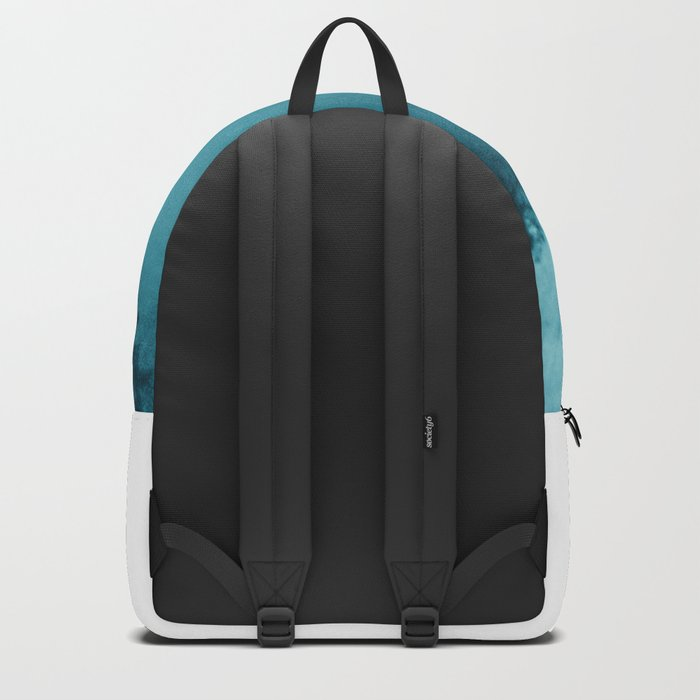 And So The Adventure Begins - Turquoise Forest Backpack