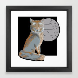 Tibetian fox Framed Art Print