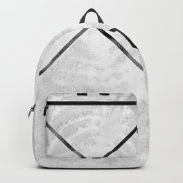Black and White Wood Grain Compass Backpack