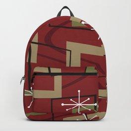 Mid Century Modern Maroon Backpack