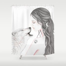 Wolf Song Shower Curtain