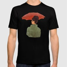 Umbrella MEDIUM Mens Fitted Tee Black
