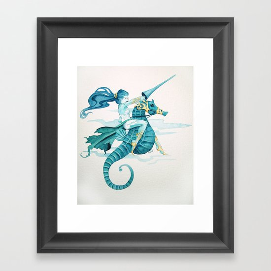 Sea Warrior Framed Art Print