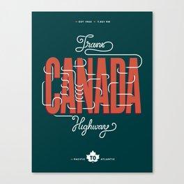 Trans-Canada Highway Canvas Print