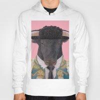 spanish Hoodies featuring Spanish Bull by Rachel Waterman
