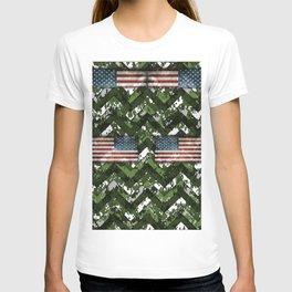 Jungle Digital Patriotic Chevrons Camo T-shirt