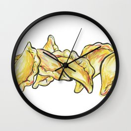 Pierogi Pillows Wall Clock