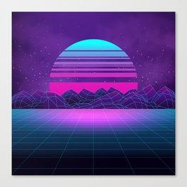 Future Sunset Vaporwave Aesthetic Canvas Print