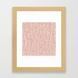 faces / pink Framed Art Print