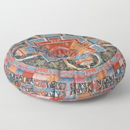Mandala of Jnanadakini Floor Pillow