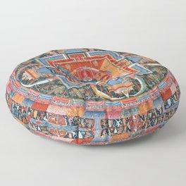 Mandala of Jnanadakini Floor Pillow