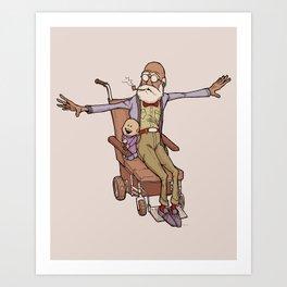 Wheelchair Wonder Art Print