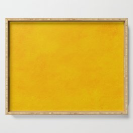 yellow curry mustard color trend plain texture Serving Tray