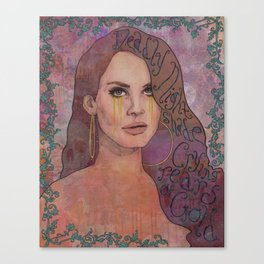 Lana - Deadly Nightshade Crying Tears Of Gold Canvas Print