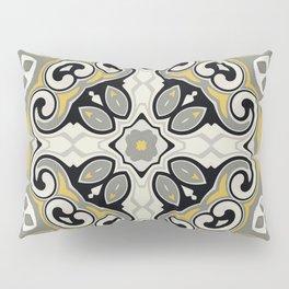 Edwardian Geo Yellow Grey Pillow Sham
