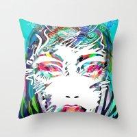 make up Throw Pillows featuring Make Up by Irmak Akcadogan