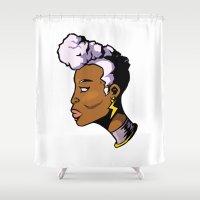 xmen Shower Curtains featuring x11 by jason st paul
