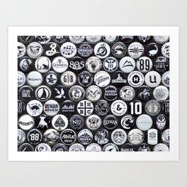 Gray Caps Art Print