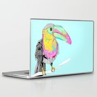 toucan Laptop & iPad Skins featuring Toucan by caseysplace