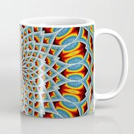 Watercolor Mandala Grunge - Magenta Blue Yellow Coffee Mug