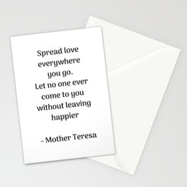 Spread Love - Mother Theresa Quote Stationery Cards