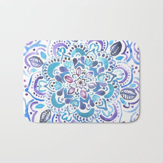 The Blues - Watercolor Mandala Bath Mat