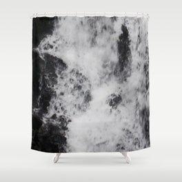 Foaming Waterfall Pareidolia Shower Curtain