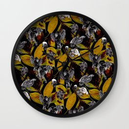 Baba Leaf Pile Wall Clock