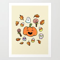 Halloween Doodles Art Print