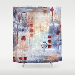 abstract collective: lazy dayz Shower Curtain