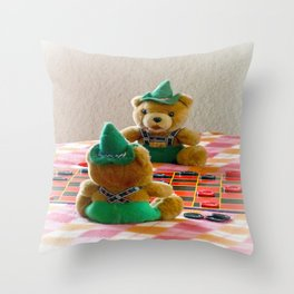 Hans and Yodel Throw Pillow