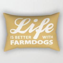 Life is better with farmdog 2 Rectangular Pillow