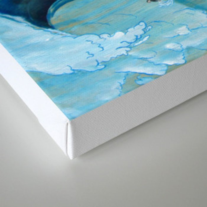 Chaotic Surfer Canvas Print