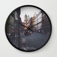 prague Wall Clocks featuring PRAGUE by REASONandRHYME
