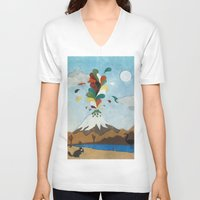 chile V-neck T-shirts featuring Norte de Chile by i am nito