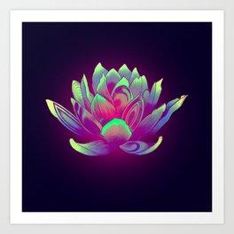 Lotus Vibes Art Print