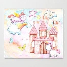 Unicorn Avalon Island Canvas Print
