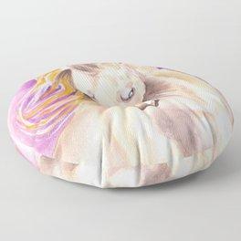Andalusian Palomino Purple Watercolor Art Floor Pillow