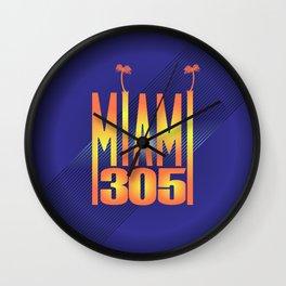 Miami   305 Wall Clock