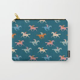 Naked derby dark blue Carry-All Pouch