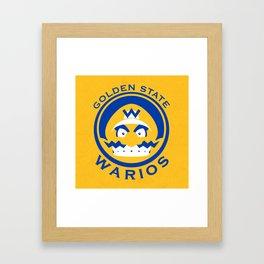 Golden State Warios - Mushroom Kingdom Champs Framed Art Print
