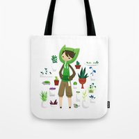 plants Tote Bags featuring Plants by Zennore